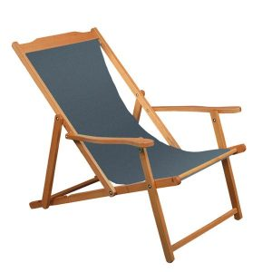 Wooden deck-chairs